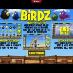 Birdz Intro Screen