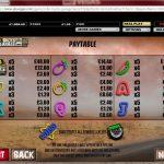 Robo Buck's Garage Prize Pay Table