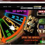 Robo Buck's Garage Prize Wheel Feature