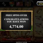 13 Free Spins Bonus Result