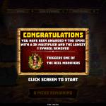 14 Free Spins Bonus Splash Screen