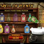 15 Spell Of Plenty Bonus