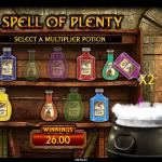 16 Spell Of Plenty Bonus
