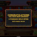 17 Pharaoh Wild Spins Splash Screen