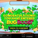 3 Bug Boost Bonus Splash Screen