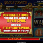 3 Free Spins Bonus Splash Screen