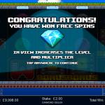 3 Freespins Bonus Splash Screen