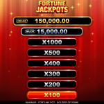 4 Fortune Jackpots Feature