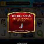 6 Frees Spins Bonus Splash Screen