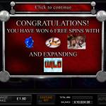 7 Free Spins Bonus Splash Screen