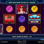 8 Freespins Bonus Win Display