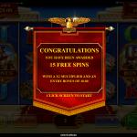 9 Super Free Spins Bonus Splash Screen