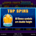 9 Top Spins Bonus Splash Screen